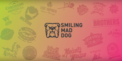 Smiling Mad Dog Craft Beers, Ciders, Gin, and Tonics
